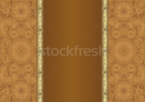 Marrom floral textura projeto espaço Foto stock © mtmmarek