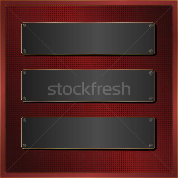Foto stock: Negro · banner · oscuro · rojo · patrón · tres