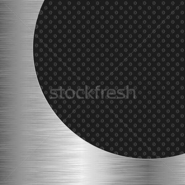 черный металлический аннотация фон пространстве темно Сток-фото © mtmmarek