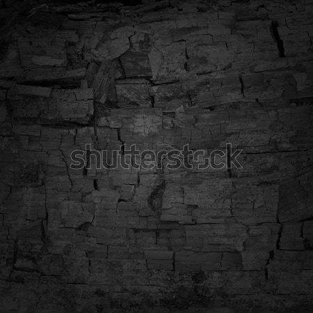 Nero irregolare carbone di legna texture pattern materiale Foto d'archivio © mtmmarek