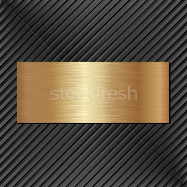 Fogkő arany fekete mintázott textúra terv Stock fotó © mtmmarek