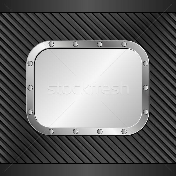 черный металл баннер дизайна промышленных стали Сток-фото © mtmmarek