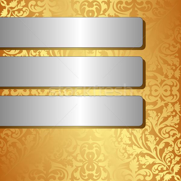 silver banners Stock photo © mtmmarek