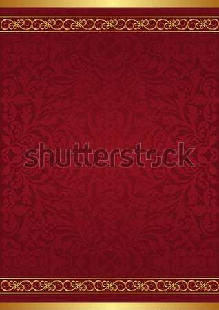 Stockfoto: Kastanjebruin · goud · ornamenten · abstract · ruimte · Rood