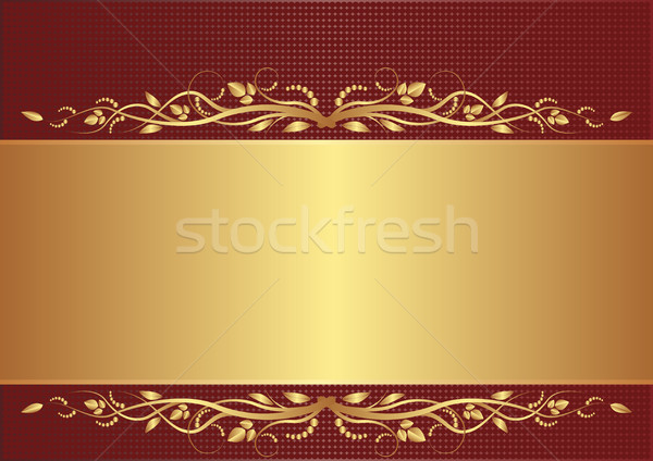 burgundy and gold background Stock photo © mtmmarek