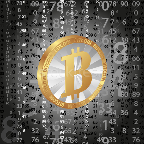 coin bitcoin on digital background Stock photo © mtmmarek