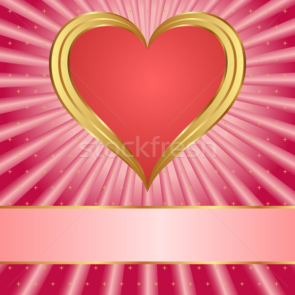 Rózsaszín piros szív szeretet háttér csillagok Stock fotó © mtmmarek