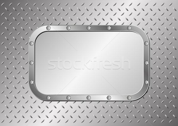 Fogkő fém technológia tányér acél minta Stock fotó © mtmmarek