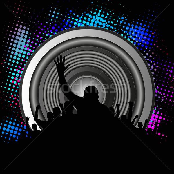 Zene tömeg hangszóró buli háttér tánc Stock fotó © mtmmarek