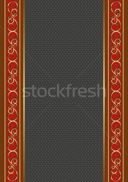 черный красный украшения текстуры пластина Сток-фото © mtmmarek