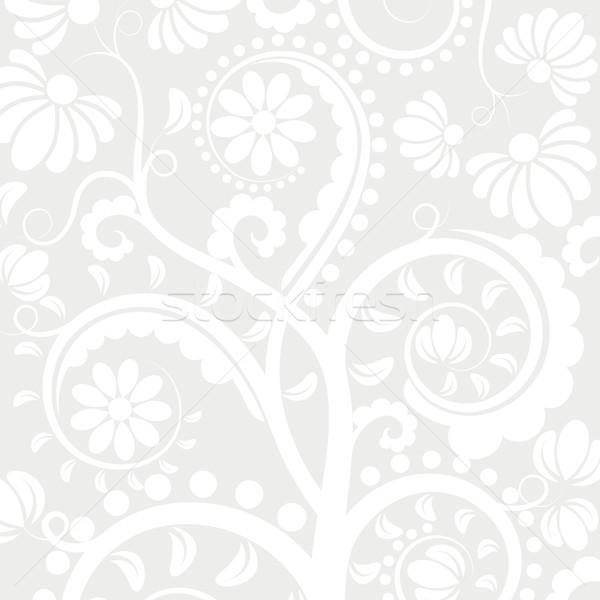 Kwiatowy biały ozdoby tekstury streszczenie projektu Zdjęcia stock © mtmmarek
