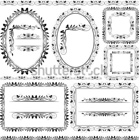 frames, borders and ornaments floral  Stock photo © mtmmarek