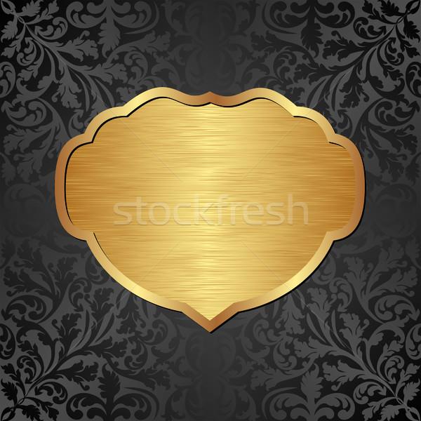 золото черный украшения кадр текстуры дизайна Сток-фото © mtmmarek