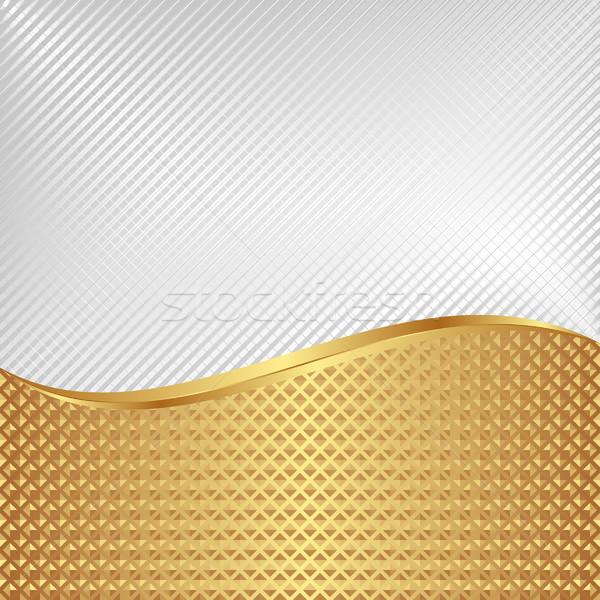 Fehér mintázott arany textúra terv háttér Stock fotó © mtmmarek
