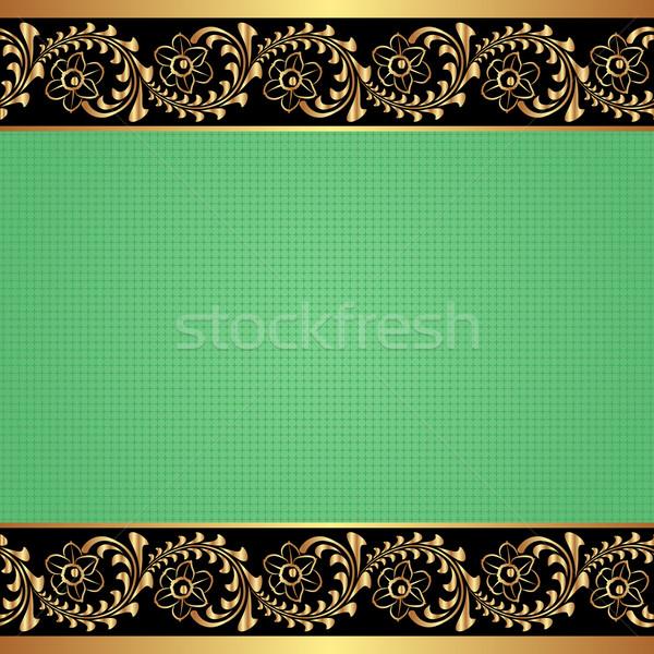 зеленый украшения дизайна фон золото Сток-фото © mtmmarek