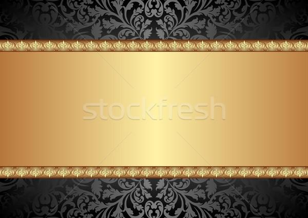 schwarz gold hintergrund textur abstrakten design vektor grafiken marek. Black Bedroom Furniture Sets. Home Design Ideas