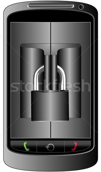 мобильного телефона защищенный телефон мобильных сотового телефона безопасной Сток-фото © mtmmarek