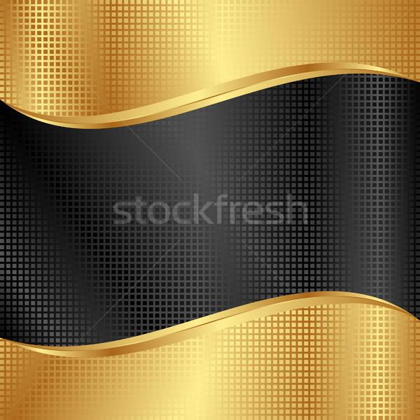 Fekete arany textúra terv stílus szöveg Stock fotó © mtmmarek