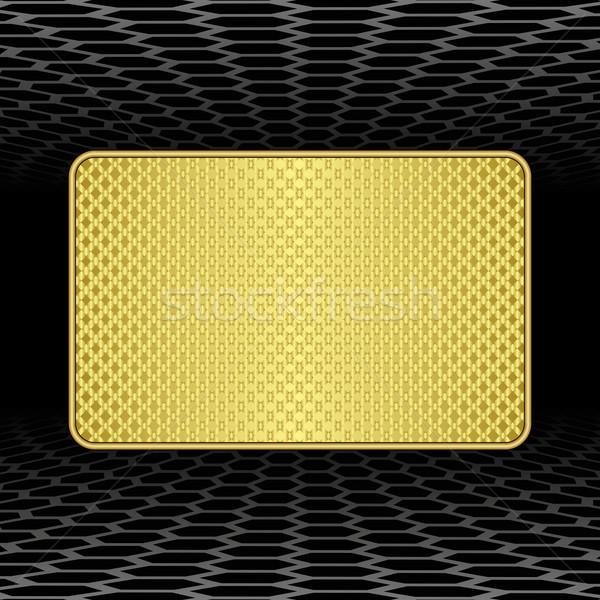 Fogkő arany fekete textúra tábla modern Stock fotó © mtmmarek