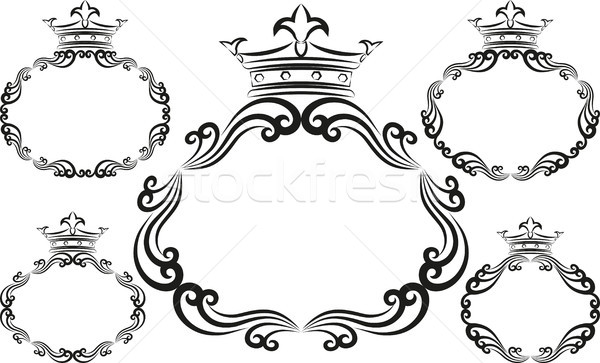 декоративный кадры набор аннотация дизайна фон Сток-фото © mtmmarek