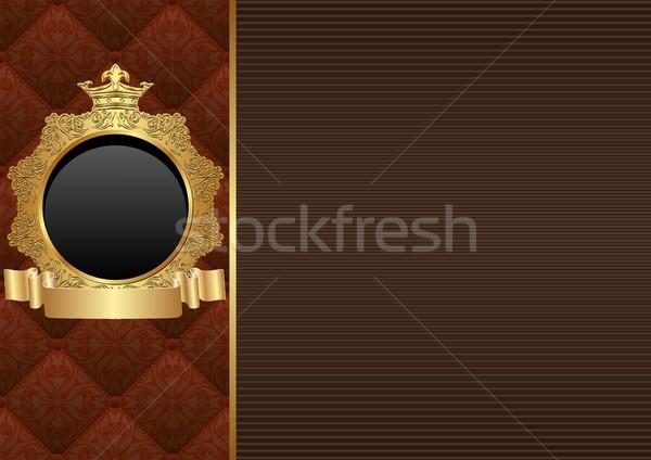 Dekoratív keret háttér klasszikus minta keret Stock fotó © mtmmarek