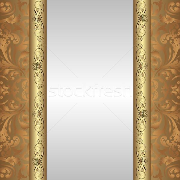 Gümüş altın kahverengi süsler doku dizayn Stok fotoğraf © mtmmarek