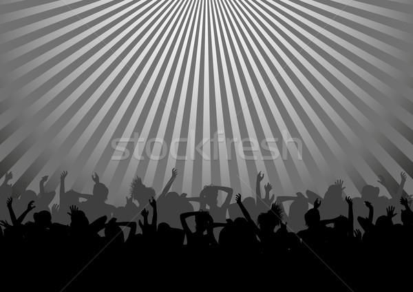 танцы толпа силуэта Dance вечеринка аннотация Сток-фото © mtmmarek
