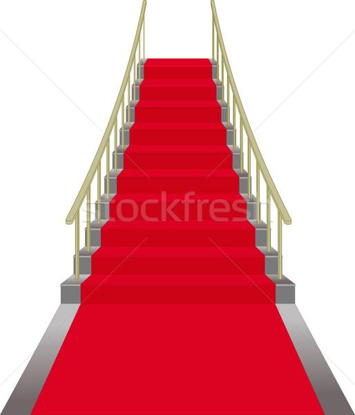 Scale coperto tappeto rosso design sfondo film Foto d'archivio © mtmmarek