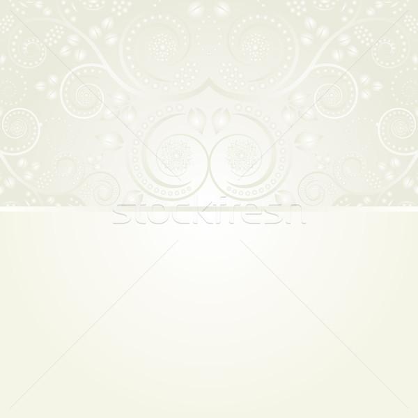 сливочный цветочный украшения волна завода желтый Сток-фото © mtmmarek