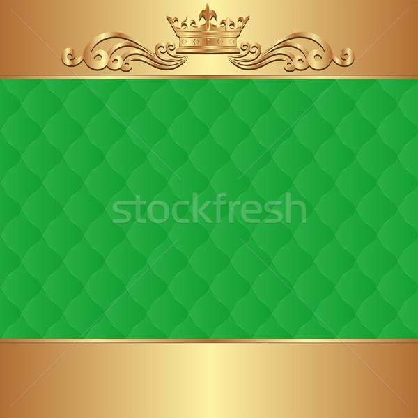 Foto d'archivio: Verde · oro · corona · abstract · design · spazio