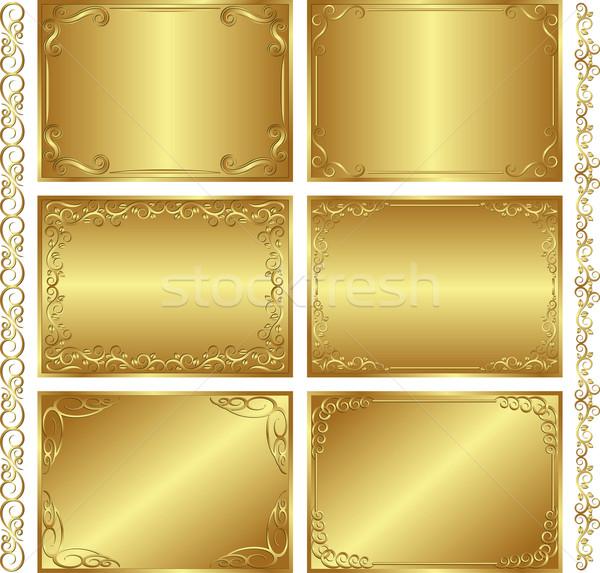 golden  backgrounds Stock photo © mtmmarek