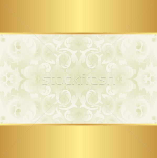 Cremoso oro floral adornos diseno wallpaper Foto stock © mtmmarek