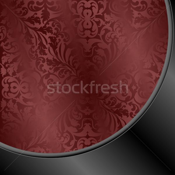 Gesztenyebarna fekete absztrakt díszek terv sötét Stock fotó © mtmmarek