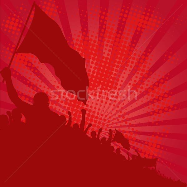 Piros absztrakt háttér törvény sziluett személy Stock fotó © mtmmarek