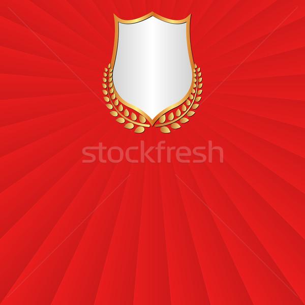 красный Vintage кадр лавры венок дизайна Сток-фото © mtmmarek
