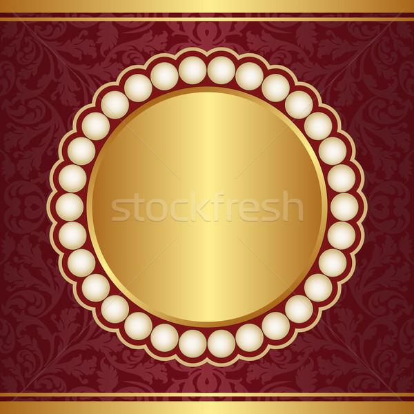 Díszes bíbor arany gyöngyök textúra terv Stock fotó © mtmmarek