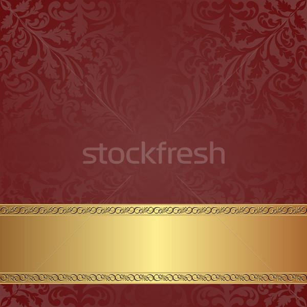 Gesztenyebarna arany keret textúra absztrakt terv Stock fotó © mtmmarek