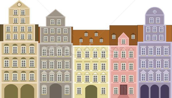 historic houses Stock photo © mtmmarek