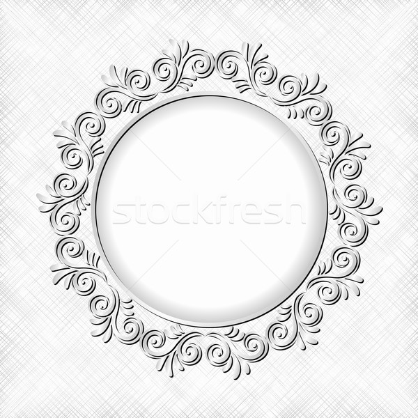 белый цветочный кадр аннотация дизайна Сток-фото © mtmmarek