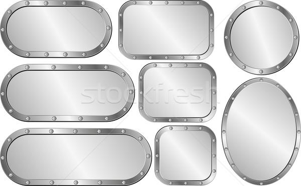 ストックフォト: セット · 孤立した · 鋼 · デザイン · 金属 · 現代