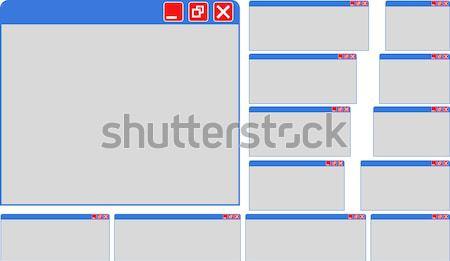 Windows ingesteld geïsoleerd computer technologie venster Stockfoto © mtmmarek