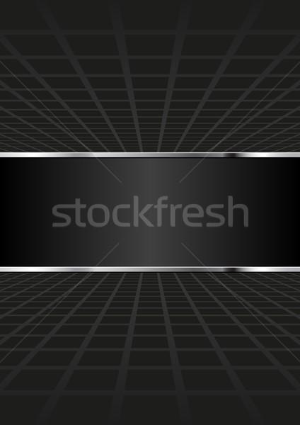 Fekete absztrakt nézőpont háttér sötét grafikus Stock fotó © mtmmarek