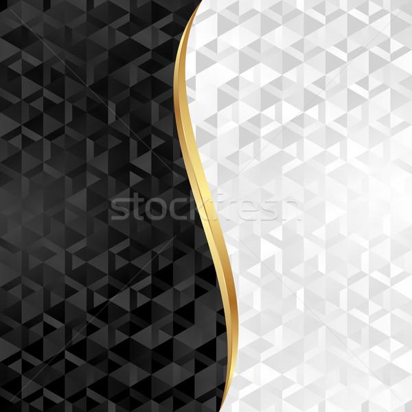 黒白 抽象的な テクスチャ 背景 黒 白 ストックフォト © mtmmarek