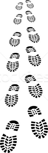 足跡 靴 デザイン 黒 スタンプ 徒歩 ストックフォト © mtmmarek