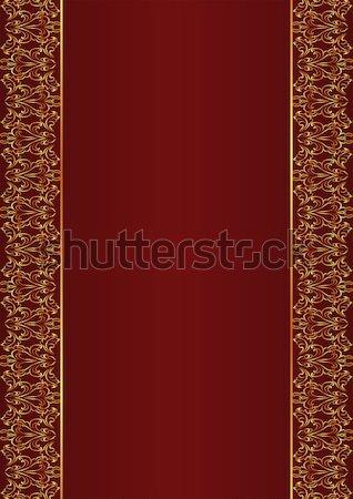 красный украшения дизайна черный ретро Сток-фото © mtmmarek