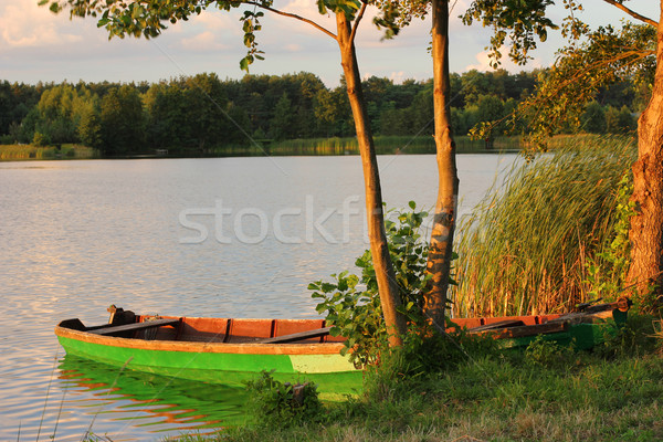 moored boat  Stock photo © mtmmarek