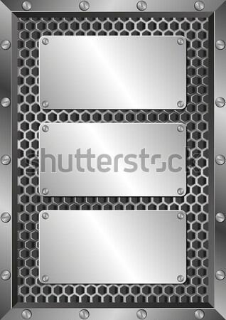 Plaque metallic Eisen Technologie Hintergrund Muster Stock foto © mtmmarek