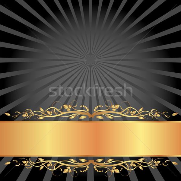 черный золото копия пространства фон пространстве пластина Сток-фото © mtmmarek