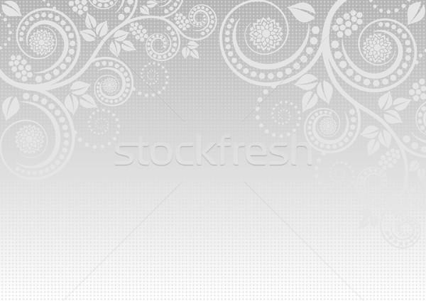 świetle szary kwiatowy ozdoby kwiat ramki Zdjęcia stock © mtmmarek