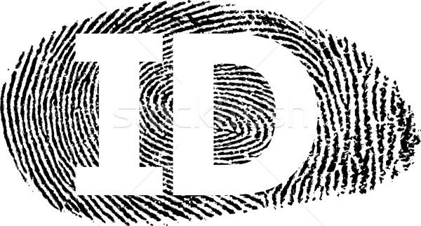 отпечатков пальцев аннотация фон черный силуэта Сток-фото © mtmmarek